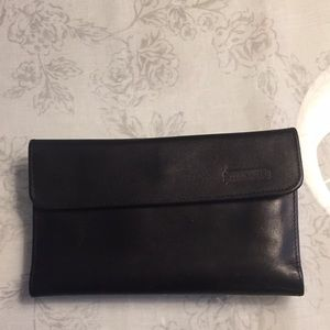 Coach leather wallet and checkbook cover